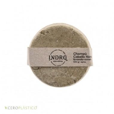 Champú sólido para cabello normal-lavanda romero Indra Cosmética